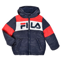 Textiel Kinderen Dons gevoerde jassen Fila DERIENA Rood / Marine