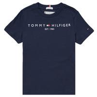 Textiel Jongens T-shirts korte mouwen Tommy Hilfiger SELINERA Marine