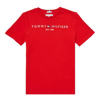 Textiel Jongens T-shirts korte mouwen Tommy Hilfiger SELINERA Rood