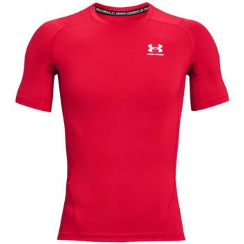 Textiel Heren T-shirts korte mouwen Under Armour Heatgear Armour Short Sleeve Rouge