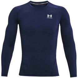 Textiel Heren T-shirts met lange mouwen Under Armour Heatgear Armour Long Sleeve Bleu marine