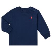Textiel Jongens T-shirts met lange mouwen Polo Ralph Lauren FADILA Marine