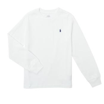 Textiel Jongens T-shirts met lange mouwen Polo Ralph Lauren KEMILO Wit