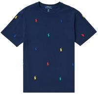 Textiel Jongens T-shirts korte mouwen Polo Ralph Lauren MOULINE Marine