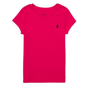 Textiel Jongens T-shirts korte mouwen Polo Ralph Lauren ASKIRA Roze