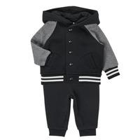 Textiel Jongens Setjes Polo Ralph Lauren DENILO Zwart / Grijs