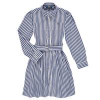 Textiel Meisjes Korte jurken Polo Ralph Lauren LIVIA Marine / Wit