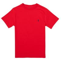 Textiel Meisjes T-shirts korte mouwen Polo Ralph Lauren FOLLIA Rood