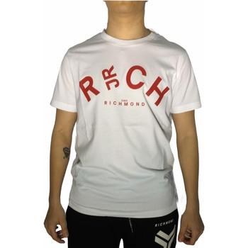 Textiel Heren T-shirts korte mouwen Richmond Sport UMP21141TS White/Red