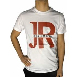 Textiel Heren T-shirts korte mouwen Richmond Sport UMP21046TS White/Red