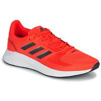 Schoenen Heren Running / trail adidas Performance RUNFALCON 2.0 Rood / Zwart