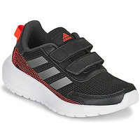 Schoenen Jongens Running / trail adidas Performance TENSAUR RUN C Zwart / Rood