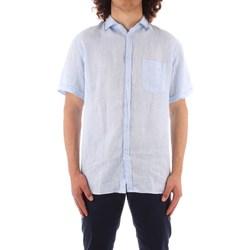 Textiel Heren Overhemden korte mouwen Trussardi 52C00213 1T002248 BLUE