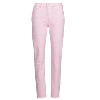 Textiel Dames Boyfriend jeans Levi's 501 CROP Roze