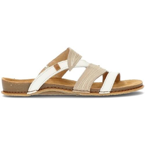 Schoenen Dames Sandalen / Open schoenen El Naturalista SANDALEN  PANGLAO 5812 WITTE STEEN