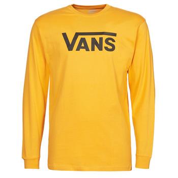 Textiel Heren T-shirts met lange mouwen Vans VANS CLASSIC LS Geel / Zwart