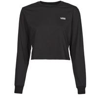 Textiel Dames T-shirts met lange mouwen Vans JUNIOR V LS CROP Zwart