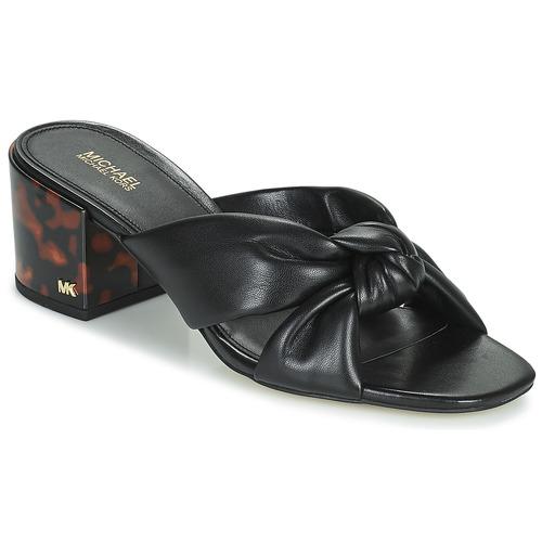 Schoenen Dames Leren slippers MICHAEL Michael Kors JOSIE Zwart