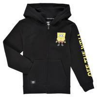 Textiel Jongens Sweaters / Sweatshirts Vans BY VANS X SPONGEBOB HAPPY FACE KIDS FZ Zwart