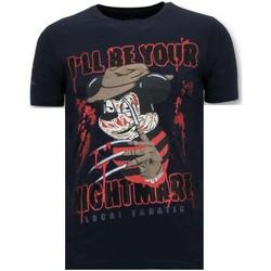 Textiel Heren T-shirts korte mouwen Lf Stoere Freddy Krueger Blauw