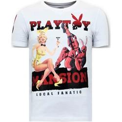 Textiel Heren T-shirts korte mouwen Lf The Playtoy Mansion Wit