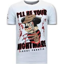 Textiel Heren T-shirts korte mouwen Lf Luxe Freddy Krueger Wit