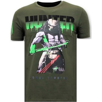 Textiel Heren T-shirts korte mouwen Lf Stoere Predator Hunter Groen