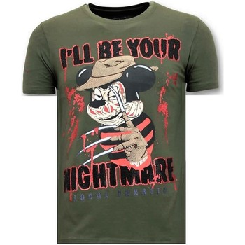 Textiel Heren T-shirts korte mouwen Lf Freddy Krueger Groen