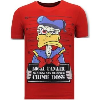 Textiel Heren T-shirts korte mouwen Lf Luxe Alcatraz Prisoner Rood