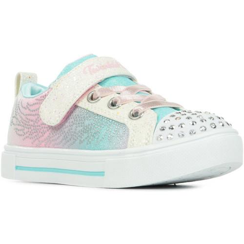 Schoenen Meisjes Lage sneakers Skechers S Lights Twinkle Sparks Wit