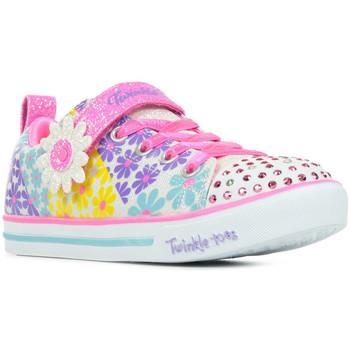 Schoenen Meisjes Lage sneakers Skechers Sparkle Lite Super Blooms Roze
