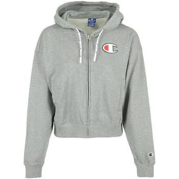 Textiel Dames Sweaters / Sweatshirts Champion Hooded Full Zip Wn's Grijs