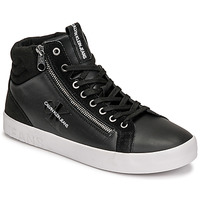 Schoenen Heren Hoge sneakers Calvin Klein Jeans VULCANIZED MID LACEUP Zwart