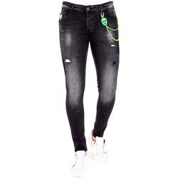 Textiel Heren Skinny jeans Lf E Jeans Verfspatten Zwart