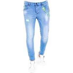 Textiel Heren Skinny jeans Lf Lichte Jeans Verfspatten Blauw
