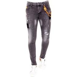 Textiel Heren Skinny jeans Lf Grijze Jeans Verfspatten Grijs