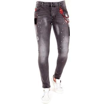 Textiel Heren Skinny jeans Lf Grijze Jeans Scheuren Grijs