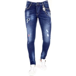 Textiel Heren Skinny jeans Lf Jeans Studs Blauw