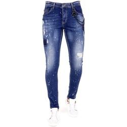 Textiel Heren Skinny jeans Lf Jeans Verfspetters Blauw