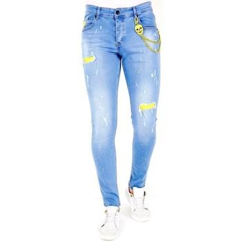 Textiel Heren Skinny jeans Lf Lichte Jeans Gaten Blauw