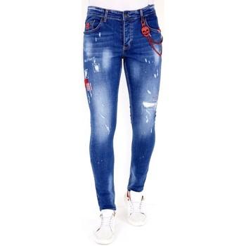 Textiel Heren Skinny jeans Lf Spijkerbroek Verfspetters Blauw