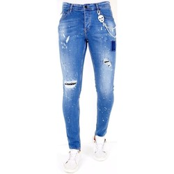 Textiel Heren Skinny jeans Lf Jeans Verfspatten Blauw