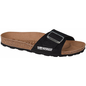 Schoenen Dames Leren slippers Geographical Norway Sandalias Bios Pala Hebilla Noir