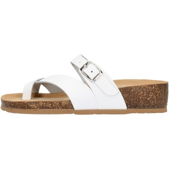 Schoenen Dames Leren slippers Bionatura 12A456IBYCBIA White