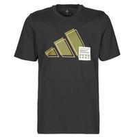 Textiel Heren T-shirts korte mouwen adidas Performance 3BAR LOGO TEE Zwart