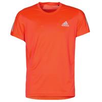 Textiel Heren T-shirts korte mouwen adidas Performance OWN THE RUN TEE App / Solar / Rood