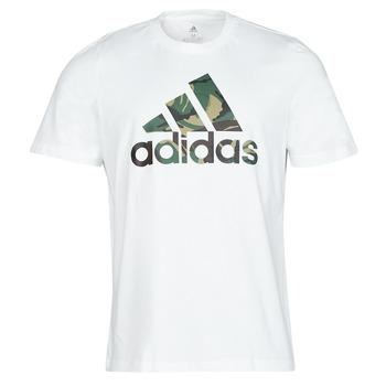 Textiel Heren T-shirts korte mouwen adidas Performance M CAMO T Wit