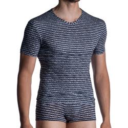 Textiel Heren T-shirts korte mouwen Manstore M967  V-hals T-shirt Groene