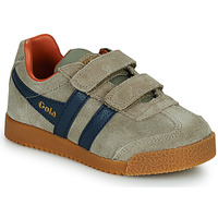Schoenen Kinderen Lage sneakers Gola HARRIER STRAP Beige / Blauw