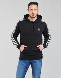 Textiel Heren Sweaters / Sweatshirts adidas Originals 3-STRIPES HOODY Zwart